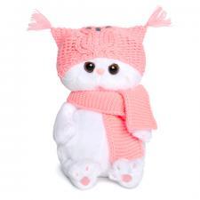 Кошечка Ли-Ли BABY в шапке-сова и шарфе, мягкая игрушка BudiBasa