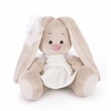 Зайка Ми в белом платье с голубем (Малыш). Размер - 15 см