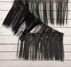 Волосы-тресс для кукол прямые,длина волоса 15 см,длина тресса 100 см,цв.1