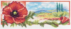 Красный цвет утренней зари. Размер - 27 х 11 см.
