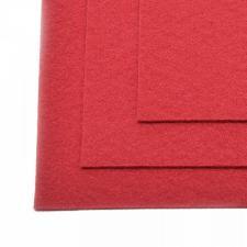 Фетр листовой жёсткий IDEAL,20 х 30 см,1 мм,цвет 607 тёмно-красный