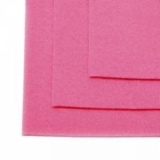 Фетр листовой жёсткий IDEAL,20 х 30 см,1 мм,цвет 614 розовый