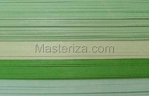 Бумага для кручения (зелёный ассорти). Размер - 5 мм.