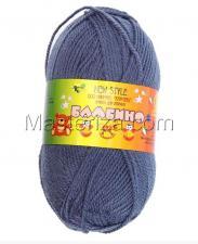Пряжа Бамбино. Цвет 022 (джинса).
