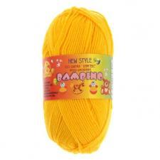 Пряжа Бамбино. Цвет 104 (жёлтый).