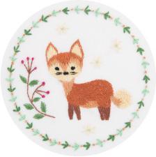 Рыжая лисичка. Размер - 10 х 10 см.