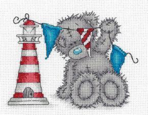"Набор для вышивания Кларт ""Tatty Teddy с маяком"". Размер - 17,5 х 14 см."