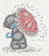 """Набор для вышивания Кларт """"Tatty Teddy с зонтиком"""". Размер - 17,5 х 19,5 см."""