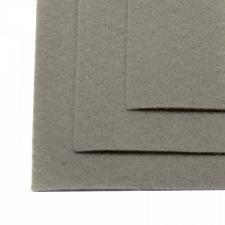 Фетр листовой жёсткий IDEAL,20 х 30 см,1 мм,цвет 648 светло-серый
