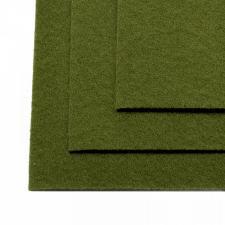 Фетр листовой жёсткий IDEAL,20 х 30 см,1 мм,цвет 663 болотный