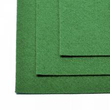 Фетр листовой жёсткий IDEAL,20 х 30 см,1 мм,цвет 672 зелёный