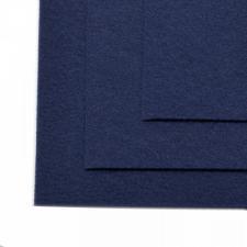 Фетр листовой жёсткий IDEAL,20 х 30 см,1 мм,цвет 673 тёмно-синий
