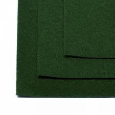 Фетр листовой жёсткий IDEAL,20 х 30 см,1 мм,цвет 678 тёмно-зелёный