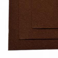 Фетр листовой жёсткий IDEAL,20 х 30 см,1 мм,цвет 687 коричневый