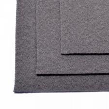 Фетр листовой жёсткий IDEAL,20 х 30 см,1 мм,цвет 694 серый