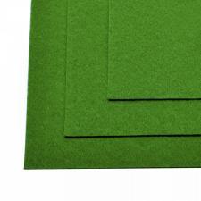 Фетр листовой жёсткий IDEAL,20 х 30 см,1 мм,цвет 705 зелёный