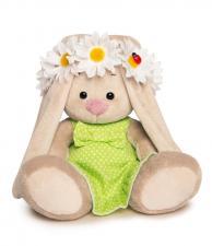 Зайка Ми в зелёном сарафанчике и в венке из ромашек (Малыш), мягкая игрушка BudiBasa