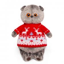 Кот Басик в свитере с оленями, мягкая игрушка BudiBasa