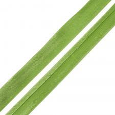 Косая бейка TBY атласная шир.15мм цв.F237 светло-зелёный