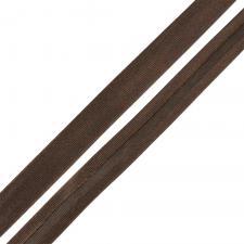 Косая бейка TBY атласная шир.15мм цв.F302 тёмно-коричневый