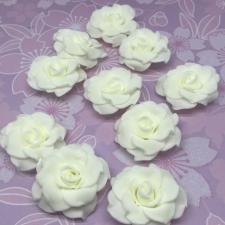 Цветы из фоамирана,4 см,10 шт,арт.А-4,айвори