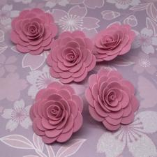 Цветы из фоамирана,4 см,5 шт,арт.ИТ-1,розовый