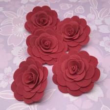 Цветы из фоамирана,4 см,5 шт,арт.ИТ-1,красный