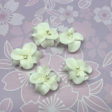 Цветы из фоамирана,4 см,5 шт,арт.УВ-1,айвори