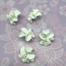 Цветы из фоамирана,4 см,5 шт,арт.УВ-1,белый