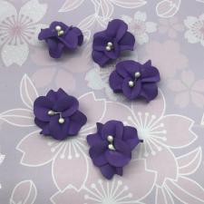 Цветы из фоамирана,4 см,5 шт,арт.УВ-1,фиолетовый