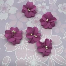 Цветы из фоамирана,4 см,5 шт,арт.УВ-1,фуксия
