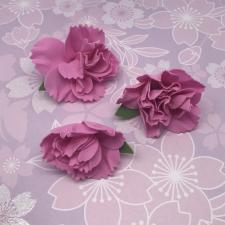 Цветы из фоамирана,7 см,3 шт,арт.ПН-1,фуксия