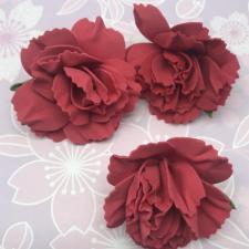 Цветы из фоамирана,7 см,3 шт,арт.ПН-1,красный