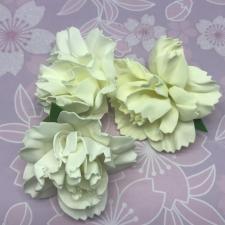 Цветы из фоамирана,7 см,3 шт,арт.ПН-1,айвори