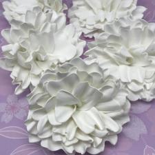 Цветы из фоамирана,8 см,5 шт,арт.ОЛП-1,белый