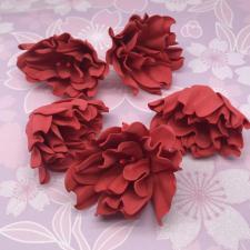 Цветы из фоамирана,7 см,5 шт,арт.ОП-1,красный