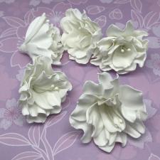 Цветы из фоамирана,7 см,5 шт,арт.ОП-1,белый