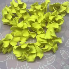 Цветы из фоамирана,6 см,10 шт,арт.ОТ-1,жёлтый