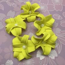Цветы из фоамирана,6 см,10 шт,арт.ОЖ-1,жёлтый