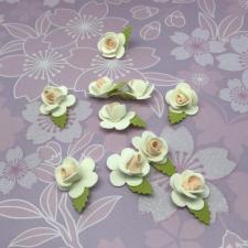 Цветы из фоамирана,2 см,10 шт,арт.Р-20/2,белый/розовый