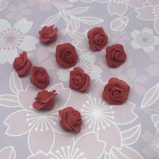 Цветы из фоамирана,2,5 см,10 шт,арт.АБ-15-01,красный