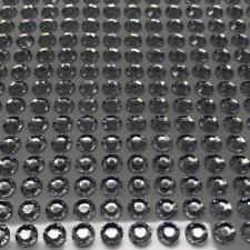 "Стикер ""Клеевые стразы круглые"",6 мм,14х36,цв.серебро"