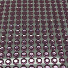 """Стикер """"Клеевые стразы круглые"""",6 мм,14х36,цв.розовый"""