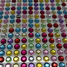 """Стикер """"Клеевые стразы круглые"""",6 мм,14х36,цв.микс"""