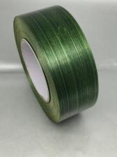 Лента Аспидистра (зелёный с тиснением),ширина 4 см,длина 50 ярд (45,72 м)