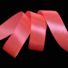 Лента атласная,25 мм,IDEAL,цвет 3079 ярко-розовый