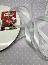 Лента атласная Элитная Premium Skroll,12 мм,цвет№ 029 (белый)
