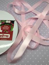 Лента атласная Элитная Premium Skroll,15 мм,цвет№ 133 (светло-розовый)