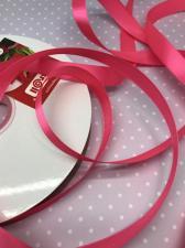 Лента атласная Элитная Premium Skroll,15 мм,цвет№ 159 (ярко-розовый)