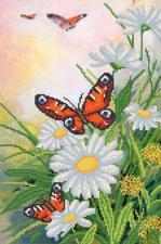 Порхающие бабочки. Размер - 25 х 37 см.